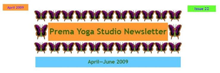 April Newsletter 2009