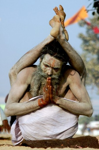 Sadhu performing Yoga